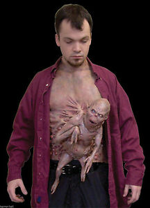 Realistic-MUTANT-FREAK-FETUS-CHEST-PIECE-Horror-Halloween-Costume-Accessory-Prop