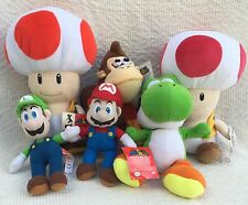 Super Nintendo Mario Luigi DK Mushroom Bros Soft Toy Plush Bundle Collection