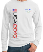 Rio 2016 Olympic White Long Sleeve T-shirt S,m,l, Xl, 2xl, 3xl