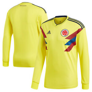 f091c9fc1cf6 adidas Colombia FIFA WC World Cup 2018 LS Home Soccer Jersey Yellow ...