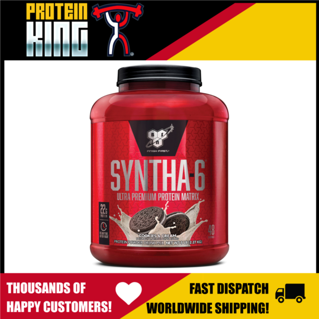 BSN SYNTHA 6 PROTEIN 2.27KG COOKIES CREAM MEAL REPLACEMENT myofusion syntha6 bpi