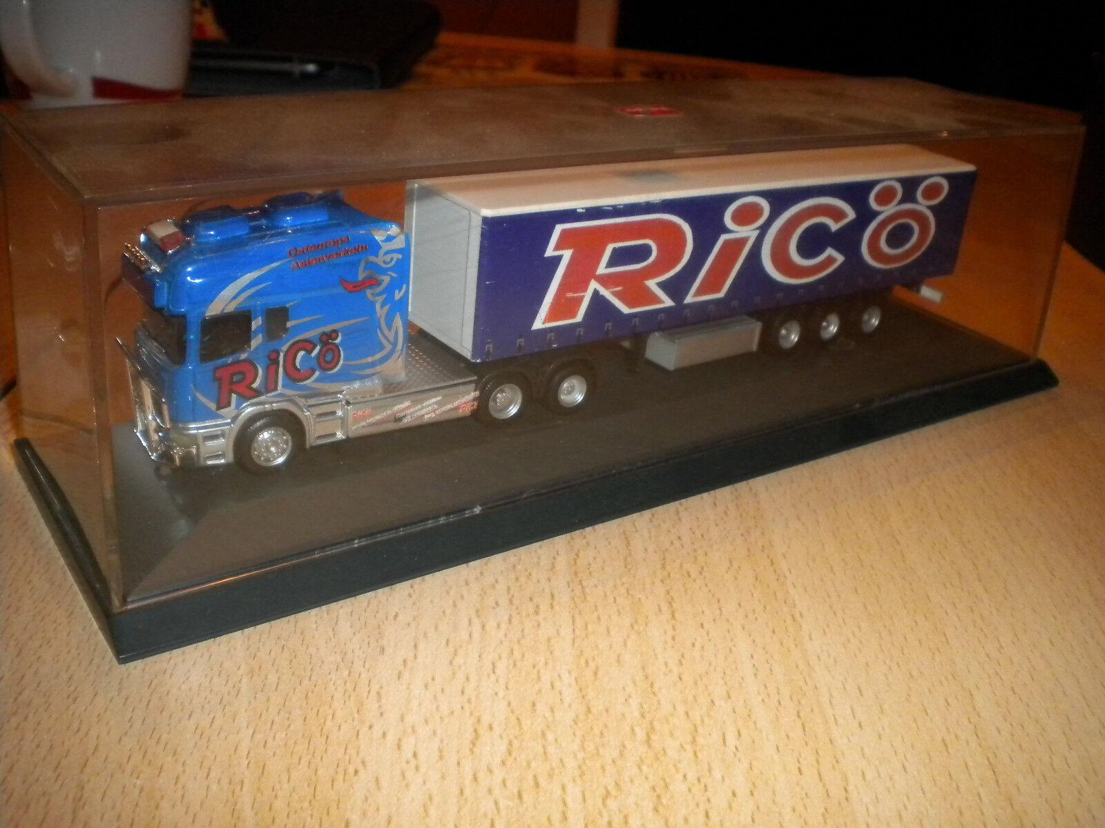 Herpa - Scania Longline Sattelzug RICÖ Eigenbau in PC selten