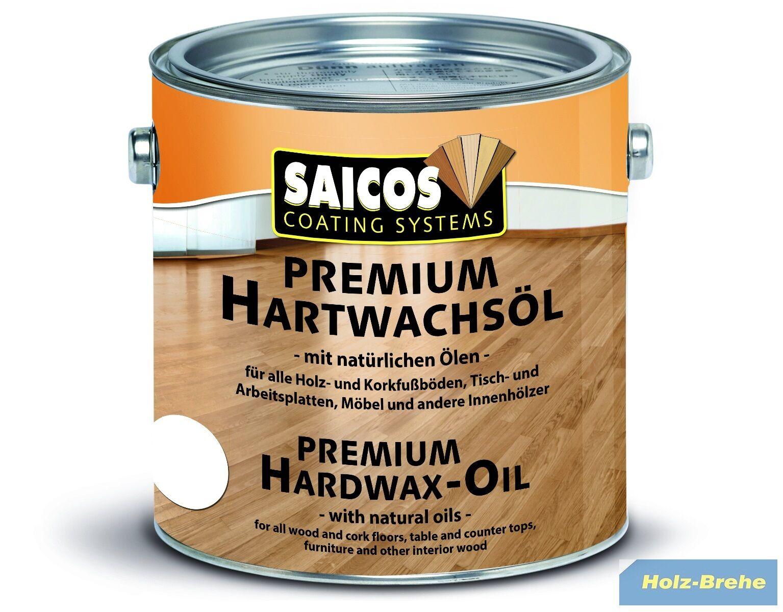 L Saicos Hartwachsöl Premium Matt 3305 2,5 L Landhausdielen