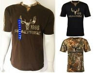 Realtree Buckhorn River Mens T-shirt Size M, L, Xl- Cotton-short Sleeves