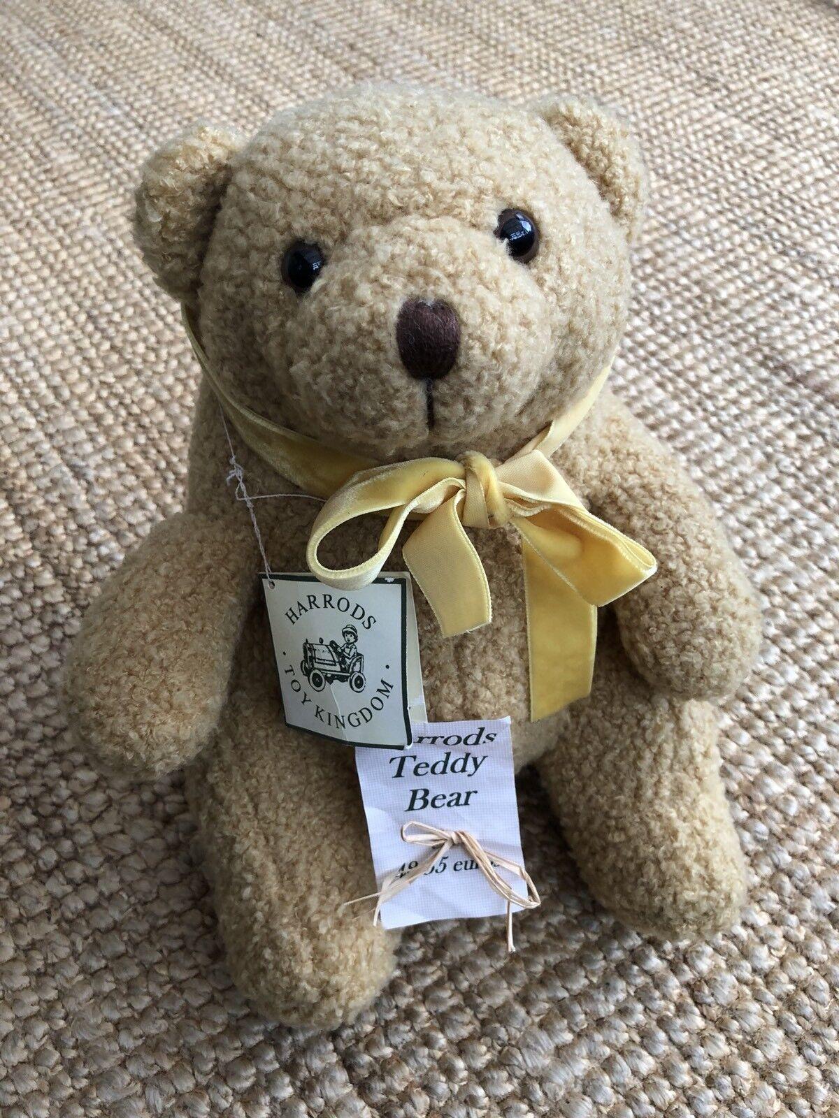 Vintage Collectors Harrods Teddy Bear 100% Authentic