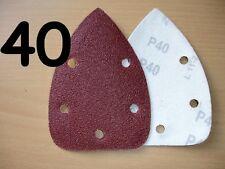 40 - 80 grit MOUSE SANDER PAD SANDING SHEET DISCS VELCRO  Fits Black & Decker