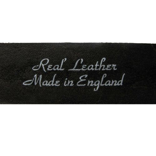 Para hombres cuero nuevo tachonado cinturón Sid Gótico Punk 38 mm Reino Unido cinturones hechos a mano