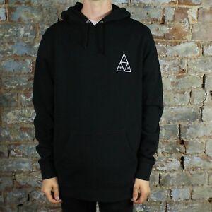 79f48dbf2 Image is loading HUF-Essentials-TT-Pullover-Hoodie-Hooded-Sweatshirt-Black-