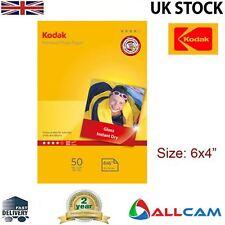 "20 Sheets: Kodak Glossy Photo Paper 6x4"" 240gsm for All Inket Printers, Retail"