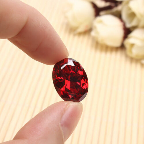 12x16mm Unheated 13.89CT AAAAA Oval Red Ruby Diamonds Faceted Cut VVS Loose Gems