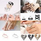 New Fashion Triangle Crystal Rhinestone Band Rings Mens Ladies Thumb Ring Womens