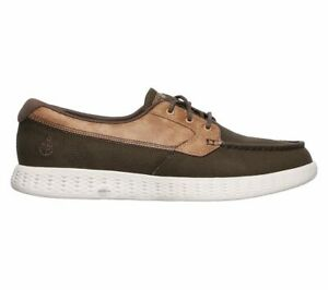 Details zu NEU SKECHERS Herren Sneakers Turnschuhe Bootsschuh Goga Max ON THE GO GLIDE Grün