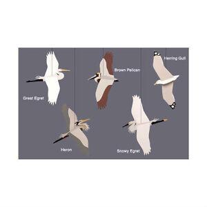 Skyflight Coastal Birds Hanging Baby Classroom Mobile