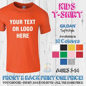 Image Is Loading Childrens Printed T Shirt Custom Personalised Kids Birthday