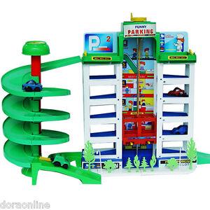 Toy Parking Garage Car Park Block Kids Plan Toys Ebay