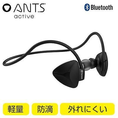 ANTS Active Bluetooth 4.1 Wireless Earphones Earbuds Microphone Headset (Black)