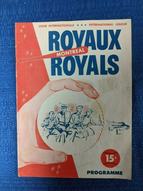 RARE MONTREAL ROYALS 1958 PROGRAM AUTOGRAPHED by TOMMY LASORDA