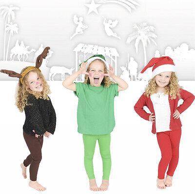 Nuova Moda Childrens Piena Lunghezza Leggings Bambini Natività Natale-mostra Il Titolo Originale Quell Summer Thirst