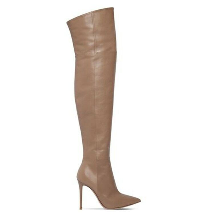 Women Stretch Over the Knee Boots Pointy Toe Party Thigh High Boots Fashion shoes