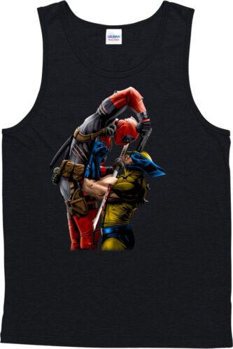 X-Men Vest,Wolverine Vs Deadpool,Marvel Comics Tanktop