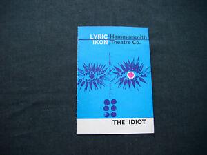 The Idiot theatre programme 1962 Lyric Ikon Theatre
