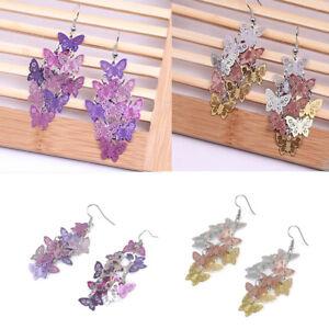 Women-Unique-Butterfly-Dangle-Chandelier-Drop-Earrings-Ear-Hook-Party-Jewelry