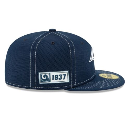 New Era Los Angeles Rams 2019 Official Road Sideline 59FIFTY Fitted Cap