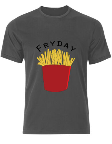 FryDay Fries Symbol Friday Work Takeaway Funny Mens Tee Shirt Top AH28