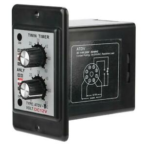 On-Off-Twin-Timer-Relay-Knob-Control-Time-Switch-AC-110-220V-DC-12V-DC-14V