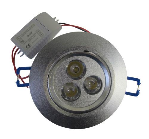 LED Deckenstrahler Deckenlampe Spot 3x3 W Spot Downlight kaltweiss 5 Stück Set