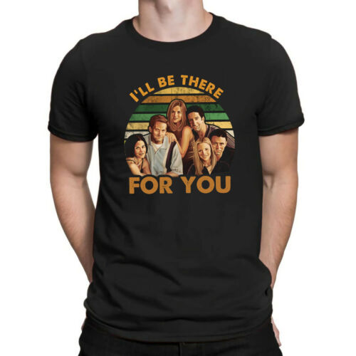 Classic Friends TV Show Characters I/'ll Be There for You Vintage T Shirt Men Tee