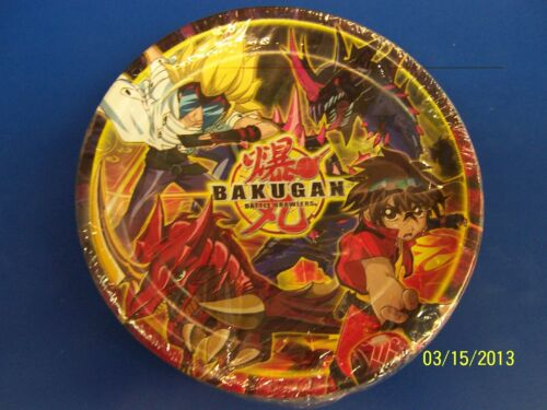 "Bakugan Battle Brawlers Anime Manga Kids Birthday Party 7/"" Paper Dessert Plates"