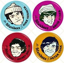 """The Monkees - Monkeys -  1"""" Badge Set of 4 NEW"""