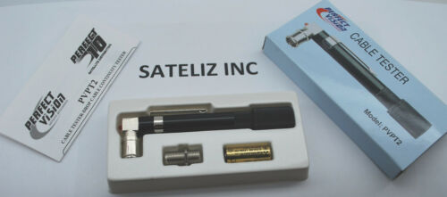 PERFECT VISION POCKET TONER CABLE TESTER SATELLITE PVPT2 W// 12V BATTERY NEW