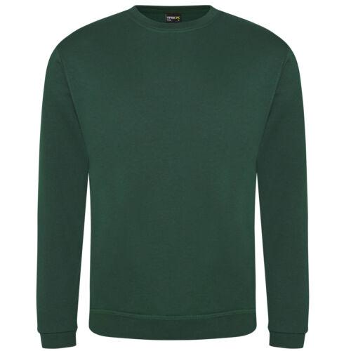Big Tall Mens Plain Green Sweatshirt Pullover Jumper 2XL 3XL 5XL 4XL