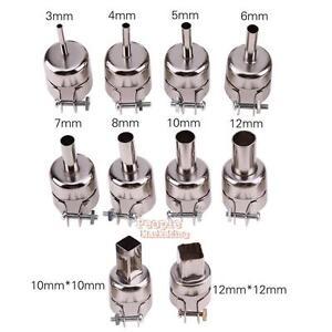 10Pcs Heat Gun Nozzles Solder Kit Tool for 850//852 Hot Air Soldering Station UK