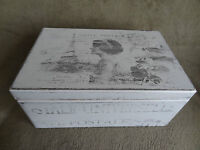 Shabby Chic Wooden Box With French Design, Perfect For Christmas Gift For Her
