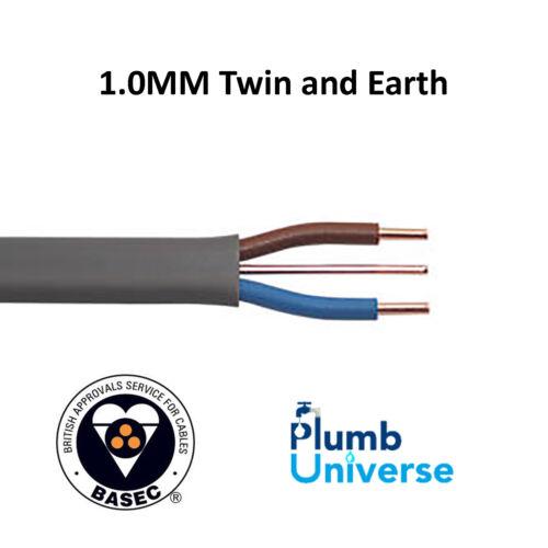 1.0 mm cable de tierra y dos vendidos por metros utilizado para la iluminación basec aprobado
