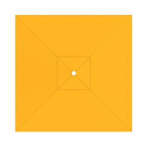 Sonnenschirmbespannung-Bespannung-Garten-Sonnenschirmbezug-3x3-m-gelb-B-Ware