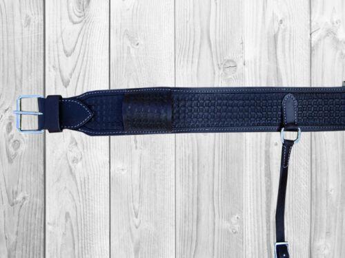 Custom avec outils en cuir de cintrage arrière trail Roping Ranch Saddle BACK Circonférence Sangle