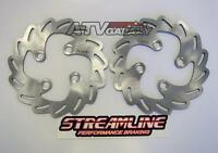 Streamline Front Pair Brake Rotors Saw Suzuki Ltz400 Z400 Kawasaki Kfx400 Dvx