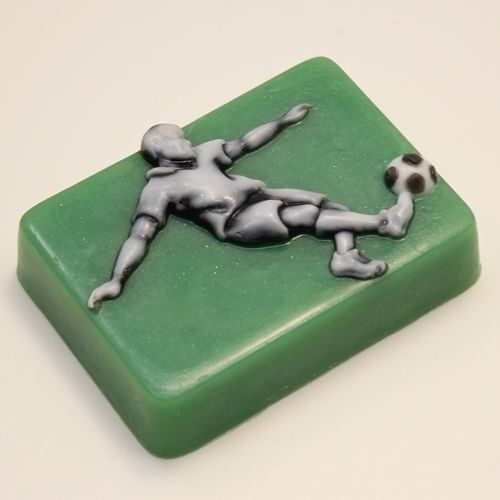 """/""""Football player/"""" plastic soap mold soap making mold mould soccer"""