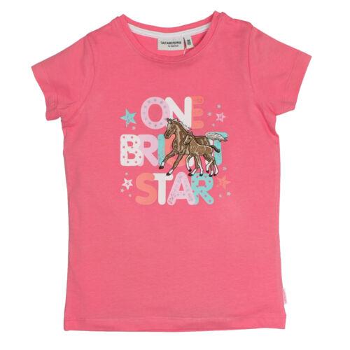 Salt and Pepper Kinder Mädchen T-Shirt Gr.92-134 Pferd pink kurzarm neu!