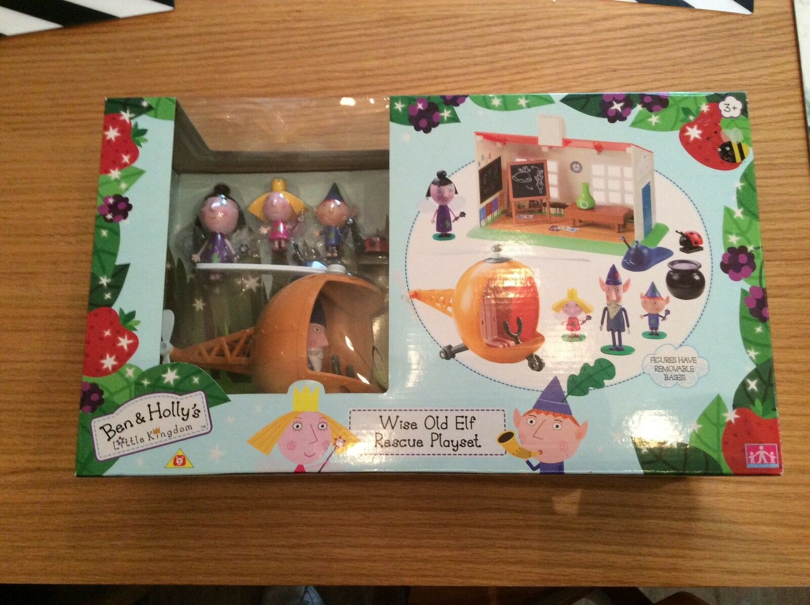 Ben and Holly Playset Wise elf Helicopter Sounds Nanny Plum School Playset
