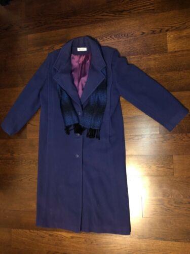 Størrelse Dobbeltbrystet uldbeklædning Kvinder Forecaster 16 Of Lilla Scarf Vtg Boston awSw8nqvR