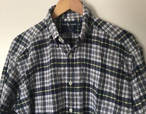 Polo-Ralph-Lauren-Men-039-s-Blaire-Button-Down-Multicolored-L-S-Plaid-Shirt-Size-M