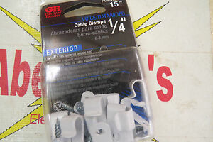 """Data Gardner Bender Voice Video Cable Clamps 1//2/"""" Exterior PAC-1550L"""