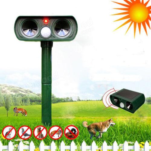 Ultrasonic Solar Power Animal Repeller Infrared Sensor Cat Dog Snake Rat Repeler