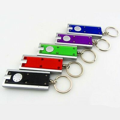 MINI Keychain Flashlight LED Keyring Lamp Pendant Emergency lighting Tool UK