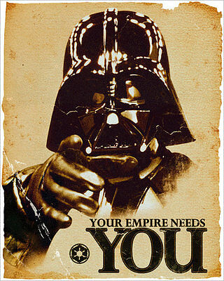 STAR WARS - MINI MOVIE POSTER / PRINT (DARTH VADER: YOUR EMPIRE NEEDS YOU)